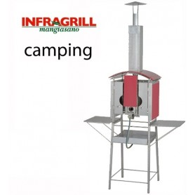 BARBECUE A GAS VERTICALE  MANGIASANO INFRAGRILL CAMPING  EX DEMO