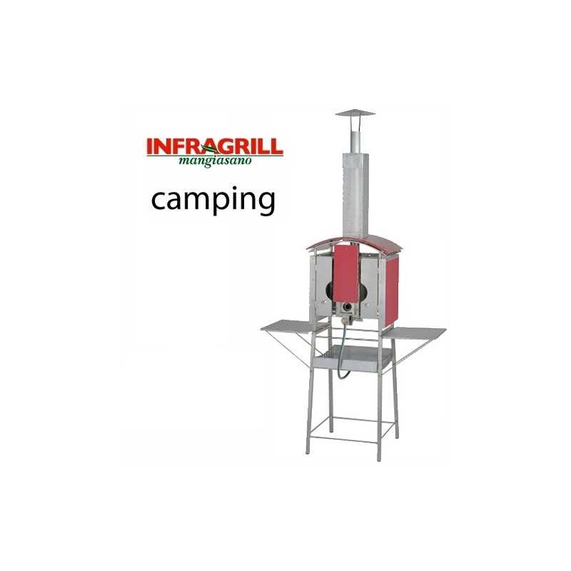 BARBECUE A GAS VERTICALE  MANGIASANO INFRAGRILL CAMPING  EX DEMO