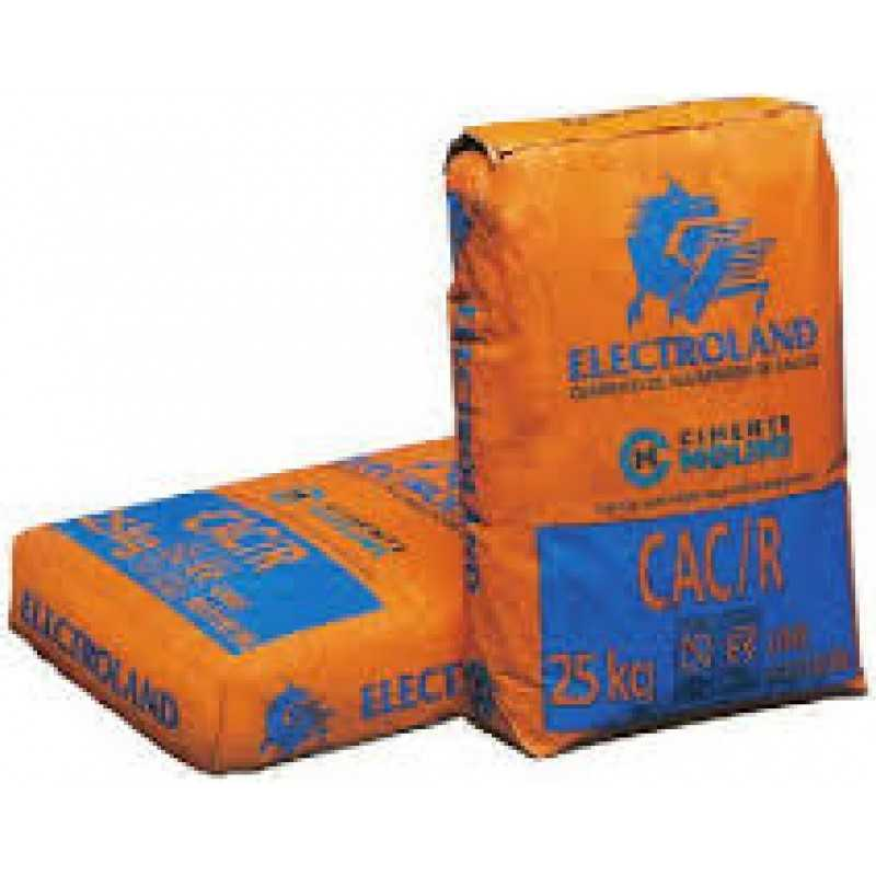 Cemento fuso a base di calcio alluminato  ELECTROLAND KG 25