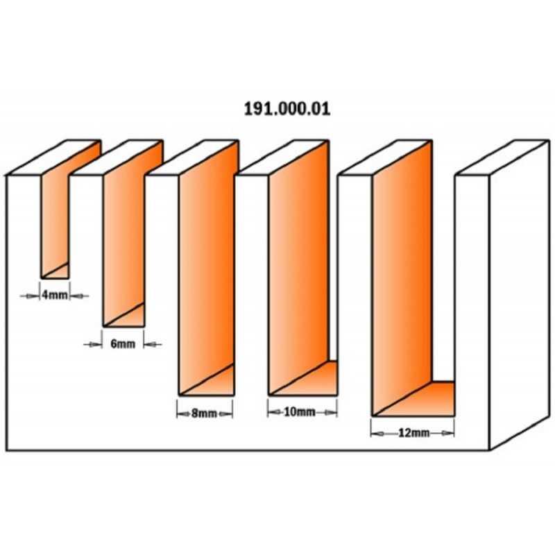 SET DI 5 FRESE ELICOIDALI GAMBO 8 MM CMT 191.000.01
