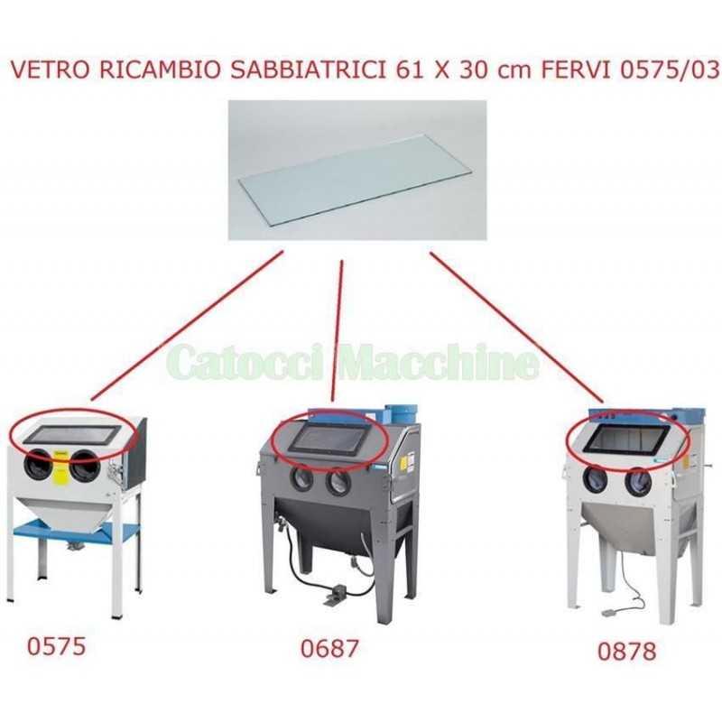 VETRO RICAMBIO SABBIATRICI FERVI 0575/03