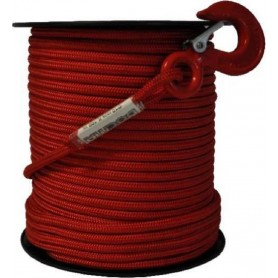 Fune tessile Ø mm 10 mt 100 alta tenacità doppia treccia rossa 1700 kg
