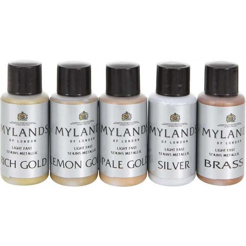 COLORANTI METALLICI RAPIDI PER LEGNO 5 X 30 ml MYLANDS
