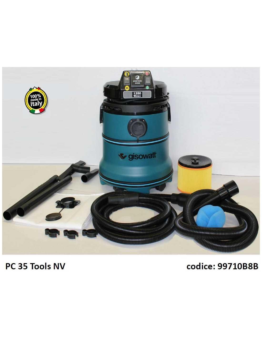 ASPIRATORE AUTOMATICO CON PRESA PER ELETTROUTENSILI GISOWATT PC35 TOOLS NV