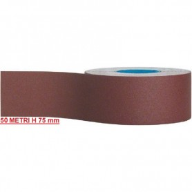 ROTOLO TELA ABRASIVA MT 50 H 75 MM GRANE ASSORTITE