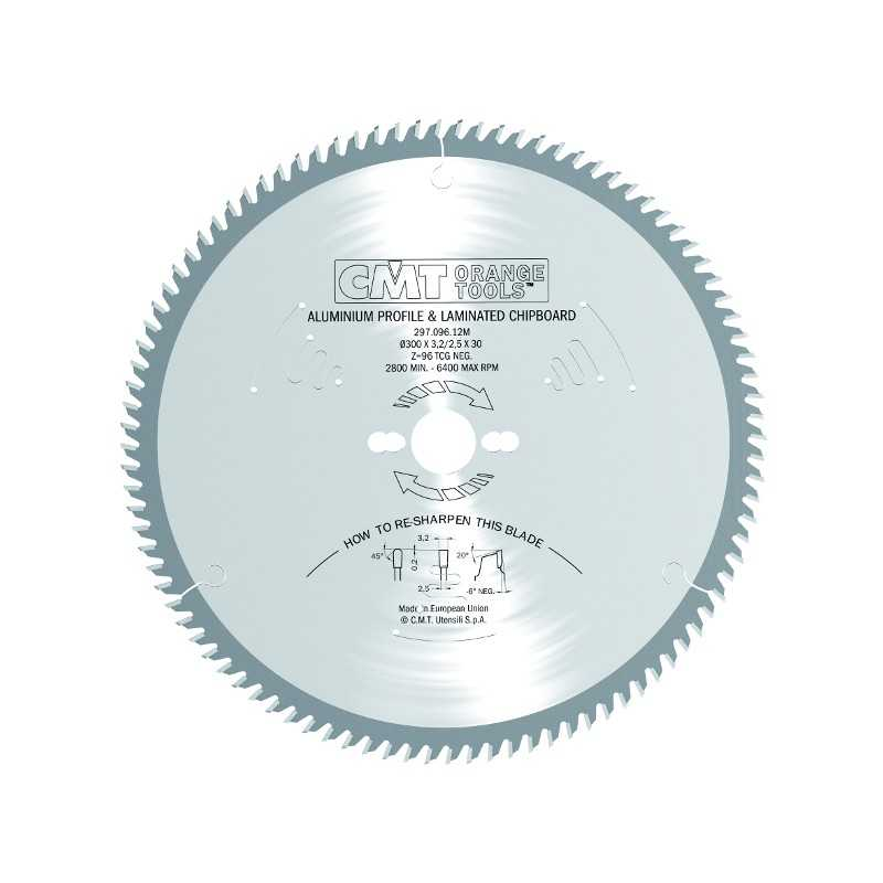 LAMA CMT 296.210.48M PER ALLUMINIO DIAMETRO 210 MM