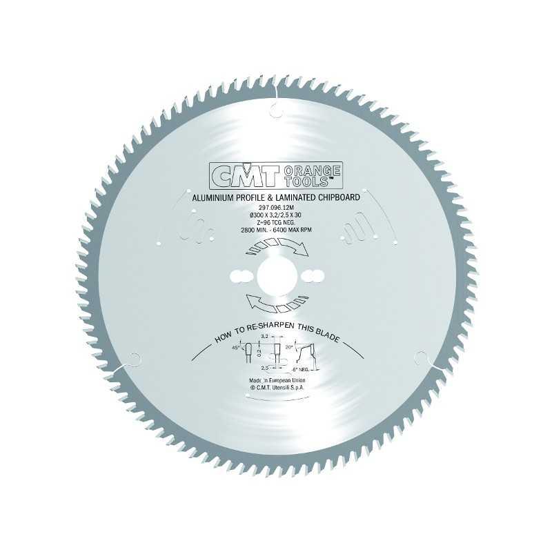 LAMA CMT 297.096.23M PER ALLUMINIO, PLASTICI E LAMINATI DIAMETRO 315 MM