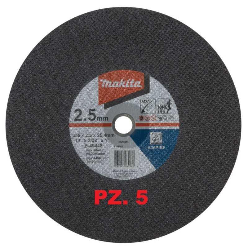 DISCHI PER TRONCATRICE 355 X 2,5  MAKITA B-49448-5