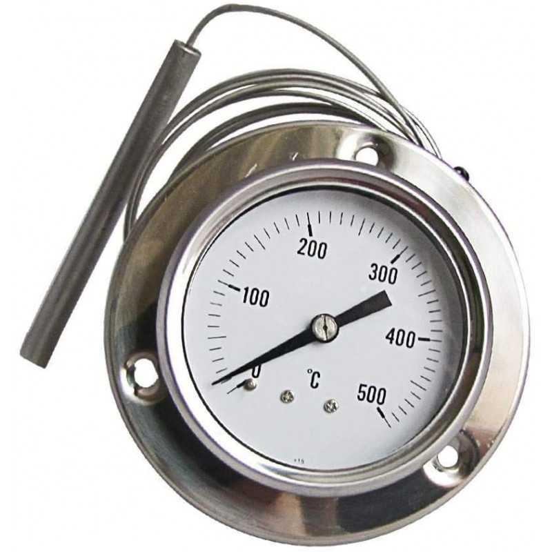 TERMOMETRO PIROMETRO INOX 500°C FORNO LEGNA BARBECUE